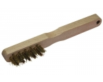 **Käsihari 200mm 3-realine messingtraat puitkäepide