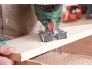 Tikksae terade komplekt 10 osa puit / plekk / alumiinium T-kinnitusega