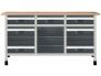 """Töölaud """"töökõrgus 860 mm, lauaplaat 1610 x 650 mm 5 sahtlit suuruses M, 2 sahtlit suuruses L, 1 kapimoodul"""""""